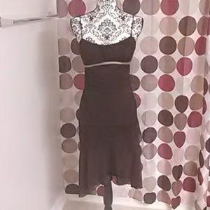Ruby Rox Chocolate brown cocktail dress